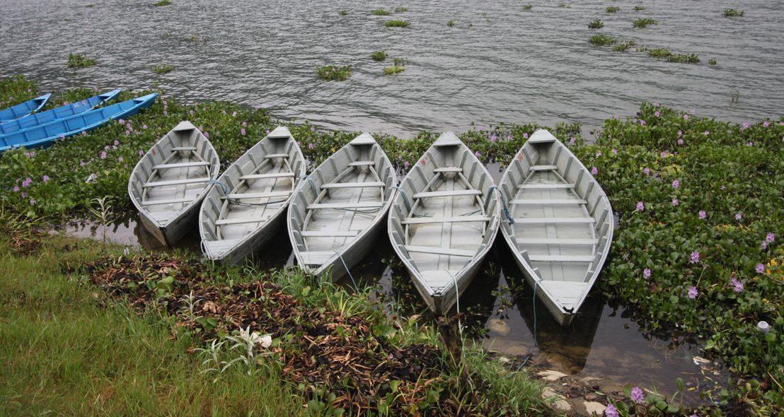 Fischerboote in Pkhara